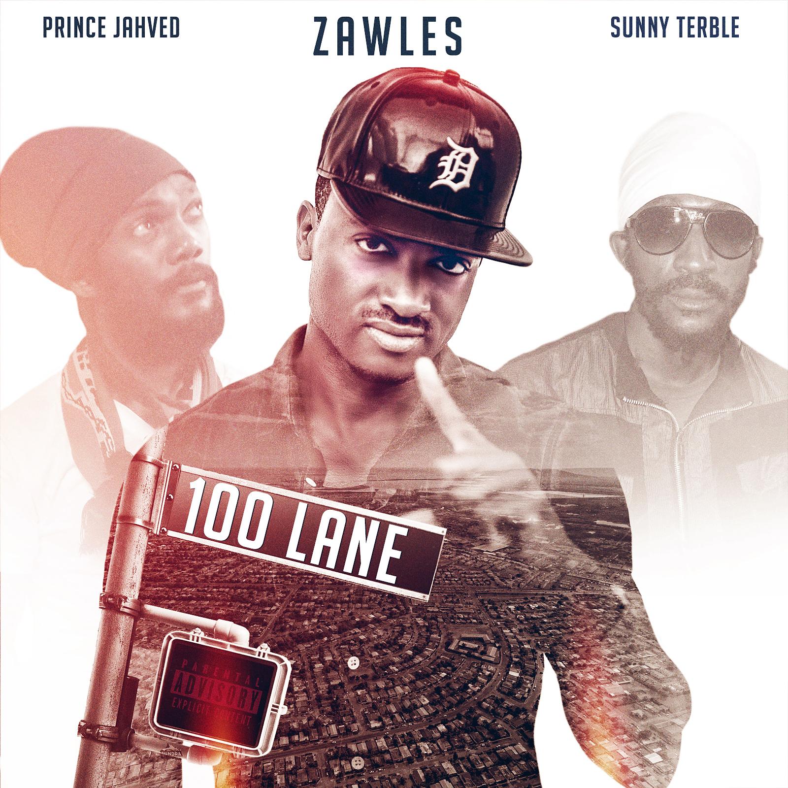 Zawles 100 Lane Artwork Front - Artwork for 100Lane single revealed