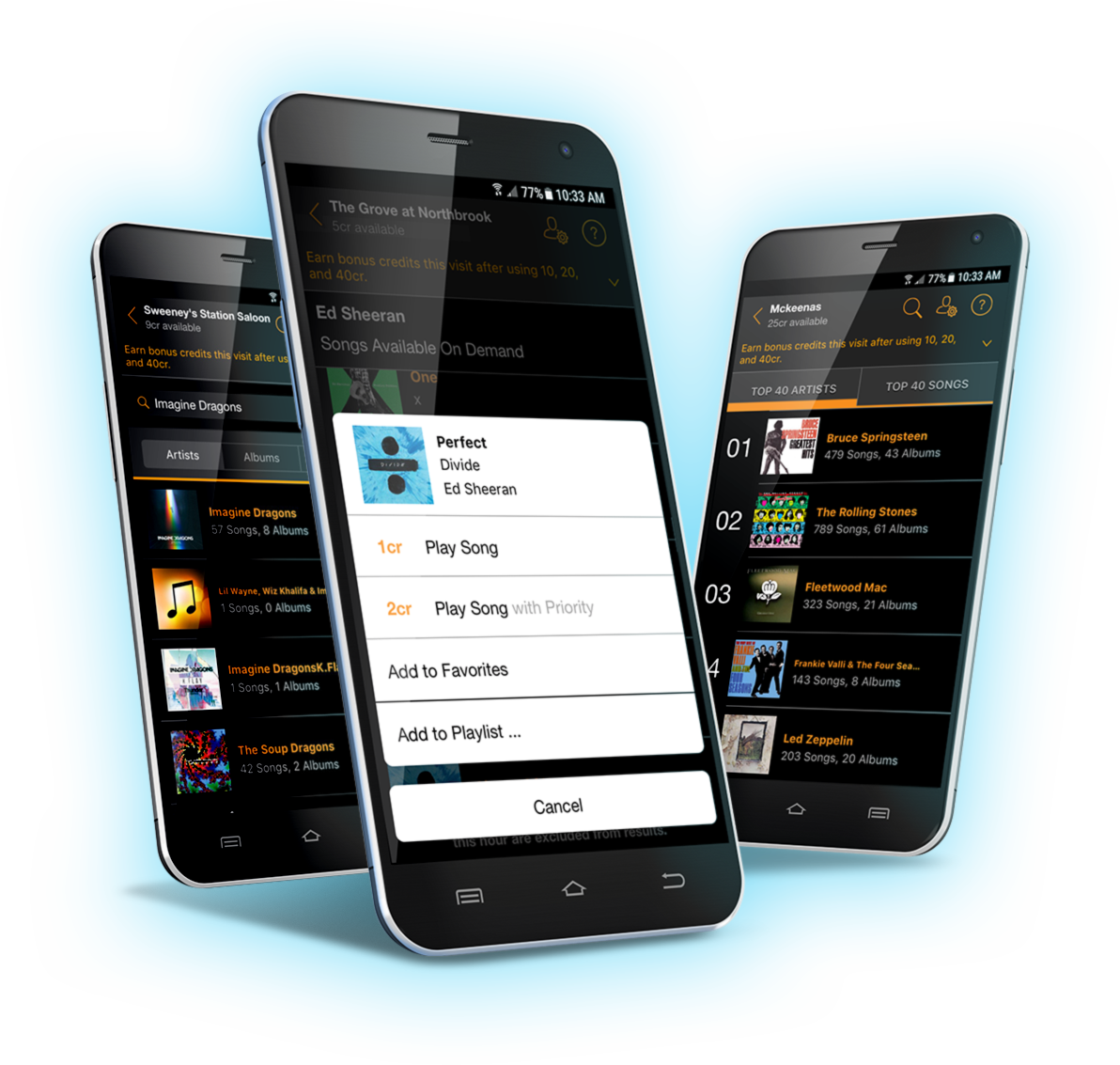 AMI Music app header - Music now available on AMI Music jukeboxes